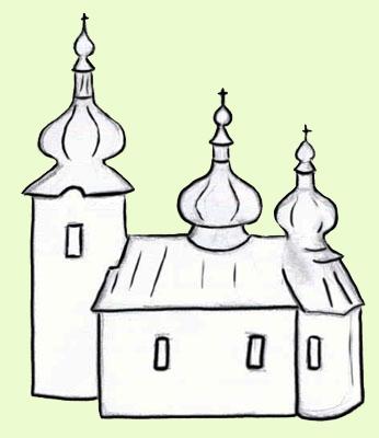 Cerkiew w Blechnarce. rys. Joanna Gawryś