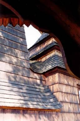 Cerkiew w Kwiatoniu - detale dachu brogowego. Fot. Anna Gawryś