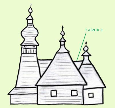 Cerkiew w Skwirtnem. Rys. Joanna Gawryś