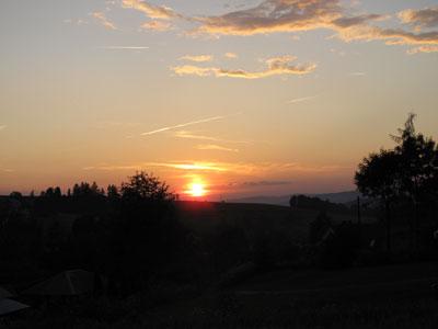 Zachód słońca nad Rabką.