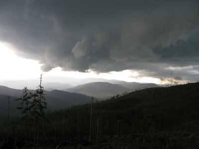 Burza nad Baranią Górą. Fot. A. Gasek.