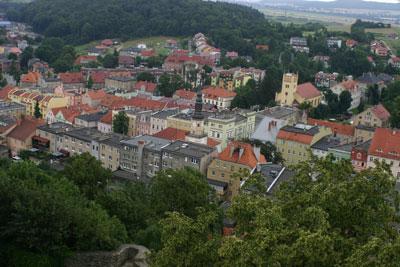Bolków - widok z zamku. Fot. Joanna Gawryś.