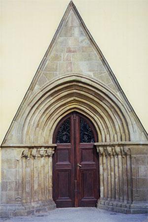 Kościół św. Wawrzyńca w Głuchołazach  portal. Fot. Anna Gasek.