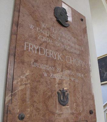 Tablica pamiątkowa w kościele w Brochowie. Fot. J. Gaczyńska.