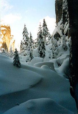 Skalne Miasto w śniegu. Fotr. A. Gawryś.