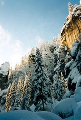 Teplickie skalne miasto zimą. Fot. Anna Gawryś.