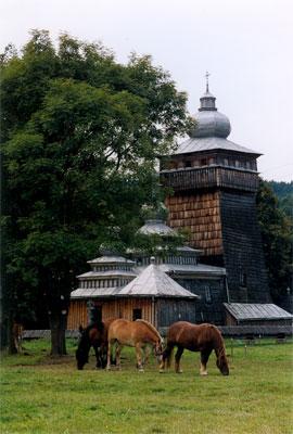 Widok na cerkiew w Świątkowej Wielkiej. Fot. Anna Gawryś.