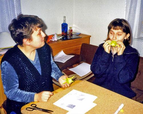 Origami - żaba. Fot. J. Gaczyńska.