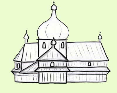 Cerkiew w Daliowej. rys. Joanna Gawryś