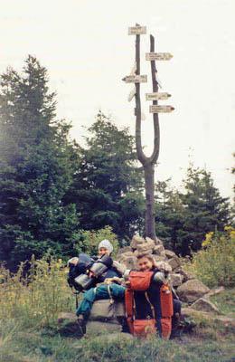 Skalnik - najwyższy szczyt Rudaw Janowickich - zdobyty! Fot. Anna Gasek.