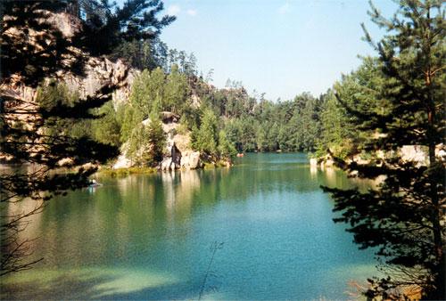 Jeziorko w Adršpachu. Fot. A. Gawryś.