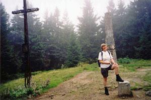 Szczyt Turbacza - niestety obelisk  nie dodaje mu urody! Fot. A. Gasek.