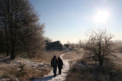 Wędrówka zimą. Fot. J. Gawryś.