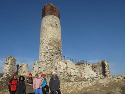 Ruiny zamku w Olsztynie k. Częstochowy. Fot. J. Gaczyńska.