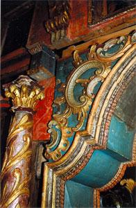 Cerkiew w Bartnem: fragment ikonostasu. Fot. Anna Gawryś